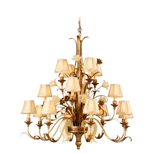 Astoria Grand Mccormick 16-Light Shaded Chandelier