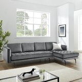 113.19 Velvet Right Hand Facing Modular Sofa & Chaise by Latitude Run®