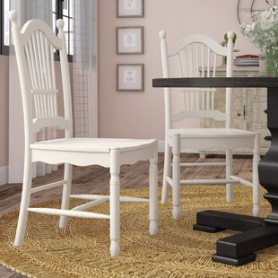 Pimentel Solid Wood Dining Chair (Set of 2) August Grove