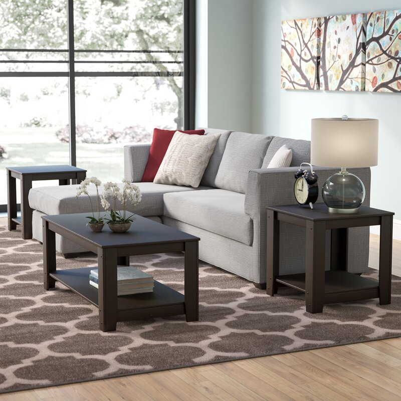 Andover Mills™ Streator 3 Piece Coffee Table Set & Reviews ...