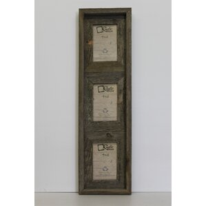 barn wood vertical 3 opening collage picture frame - Collage Photo Frames
