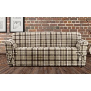 Highland Plaid Box Cushion Sofa Slipcover