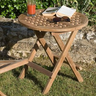 Woodland Round Picnic Teak Dining Table By Sol 72 Outdoor