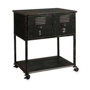Fayette 2-Drawer Kitchen Cart Williston Forge