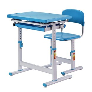 Hinkel Ergonomic 25.7 W Art Desk and Chair Set by Zoomie Kids