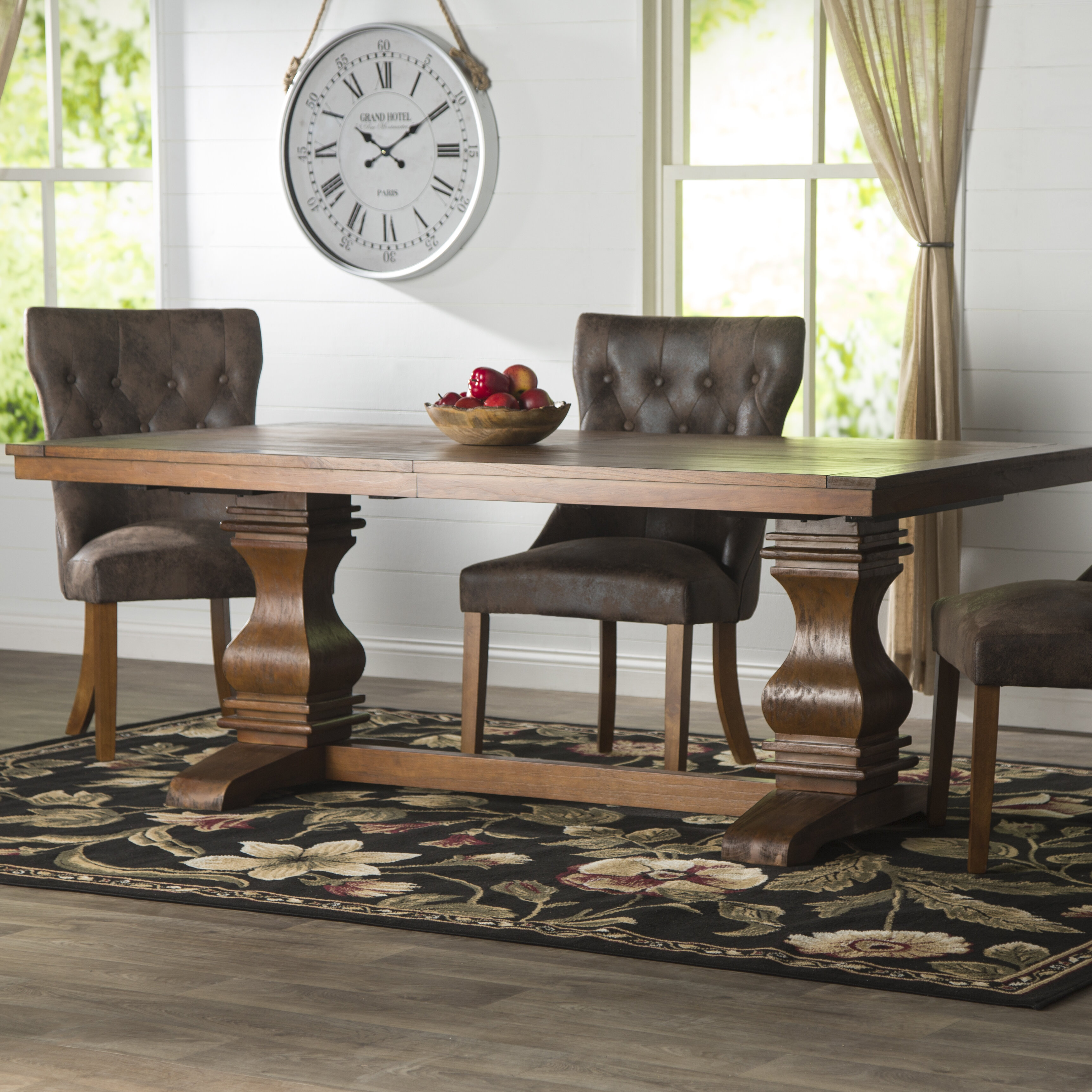 three posts derwent extendable solid wood dining table reviews rh wayfair com
