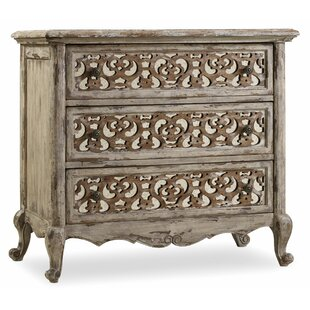 Chatelet Fretwork 3 Drawer Nightstand