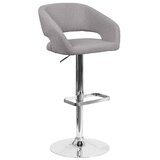Tonkin Swivel Upholstered Adjustable Height Bar Stool by Orren Ellis