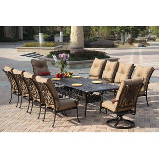 Darby Home Co Lanesville 11 Piece Dining Set with Cushions