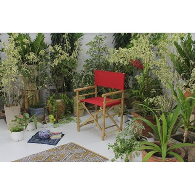 Yohana Bamboo Director Chair Bayou Breeze Color: Red