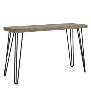 Lampley Wood and Metal Entryway Console Table