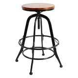 Kinser Solid Wood Adjustable Height Bar Stool by Williston Forge