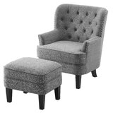 Michalak Cheswood 23 Armchair and Ottoman by Canora Grey