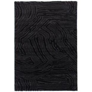 Best Reviews Purmerend Black/Dark Gray Area Rug ByBrayden Studio