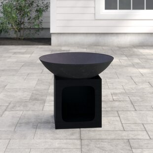 Isla Steel Charcoal/Wood Burning Fire Pit By Gardeco