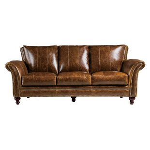 De Foix Leather Sofa by Canora Grey Discount
