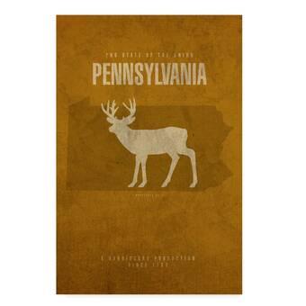 Penn State Mom Glossy Print Chrome Frame