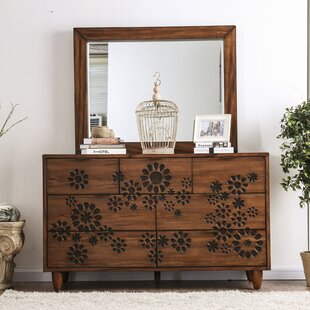 Alayah 7 Drawer Dresser with Mirror