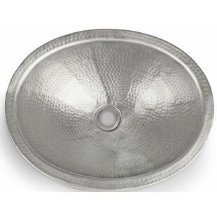 Monarch Abode Hand Hammered Metal Oval Vessel Bathroom Sink