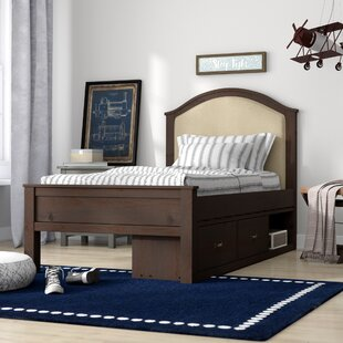 Stella Upholstered Panel Bed with Storage by Grovelane Teen