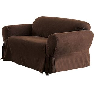 Sure Fit Soft Suede Box Cushion Sofa Slipcover