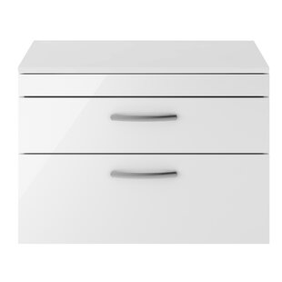 Clarendon 80cm Wall-Mounted Vanity Unit Base Only By Mercury Row