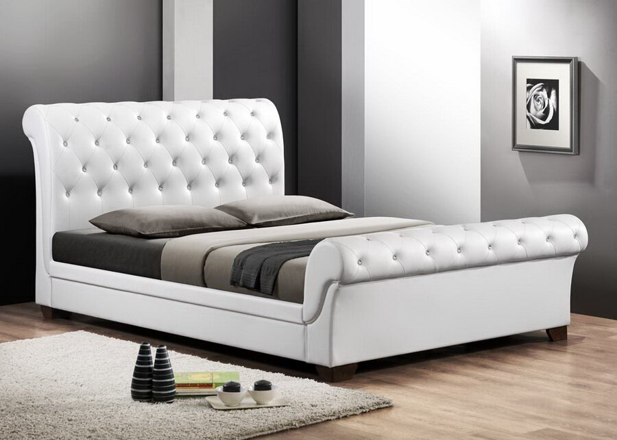 upholstered leather sleigh bed. Leighlin Queen Upholstered Sleigh Bed Leather
