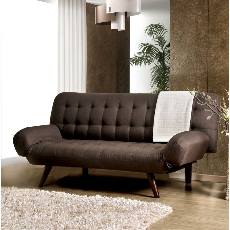 Latitude Run Wiltz Mid-Century Modern Convertible Sofa | Wayfair