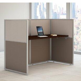 Bush Business Furniture Easy Office 2 Piece Desk Office Suite