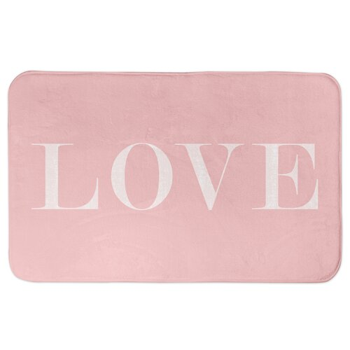 Ivy Bronx Ferreira Love Rectangle Microfiber Foam Non Slip Bath Rug Wayfair
