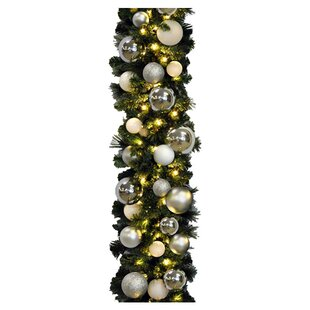 White Christmas Garlands You Ll Love In 2019 Wayfair