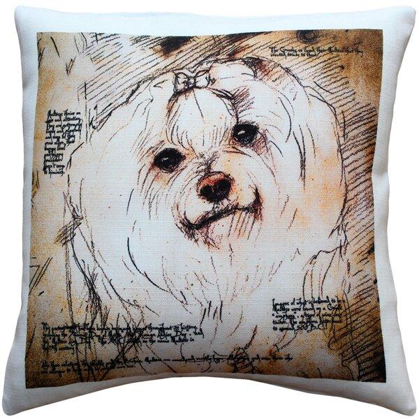 Red Barrel Studio Chadstone Maltese Dog Indoor Outdoor Throw Pillow Wayfair