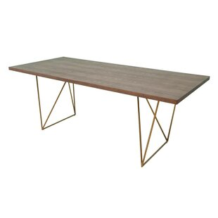 Johnsie Tobacco and Antique Brass Dining Table by Willa Arlo Interiors