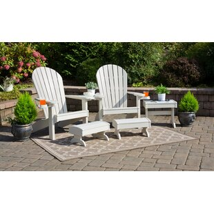 Kelm 5 Piece Plastic Adirondack Chair Set