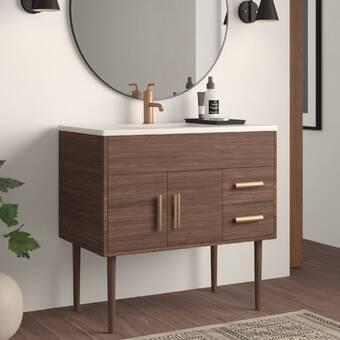 Alek 49 Single Bathroom Vanity Set Reviews Allmodern