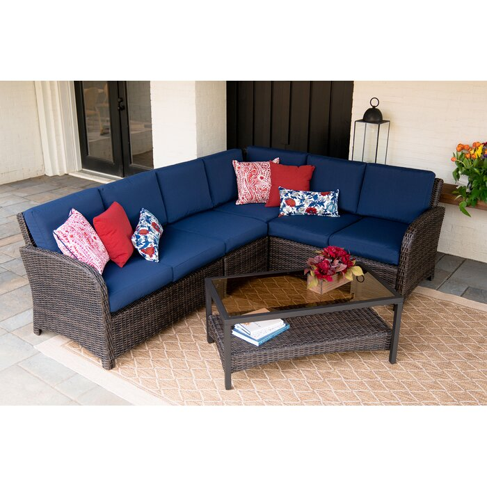Keyser 5 Piece Sectional Seating Group with Cushions