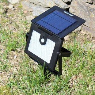 Nitewatch Pro LED Solar Power Outdoor Security Flood Light with Motion Sensor by Touch of ECO