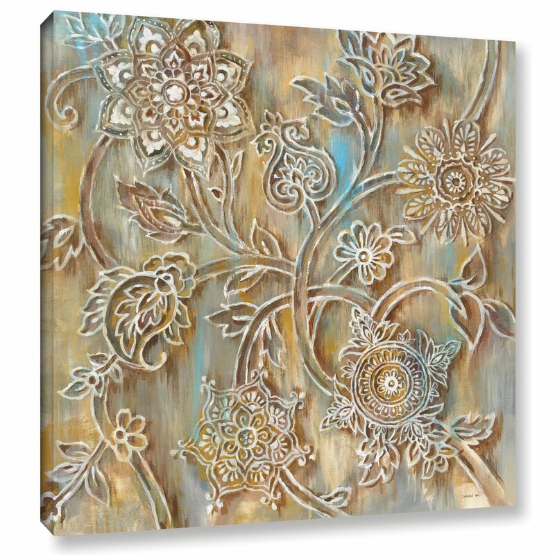 Bungalow Rose Henna Crop Painting Print On Wrapped Canvas Wayfair