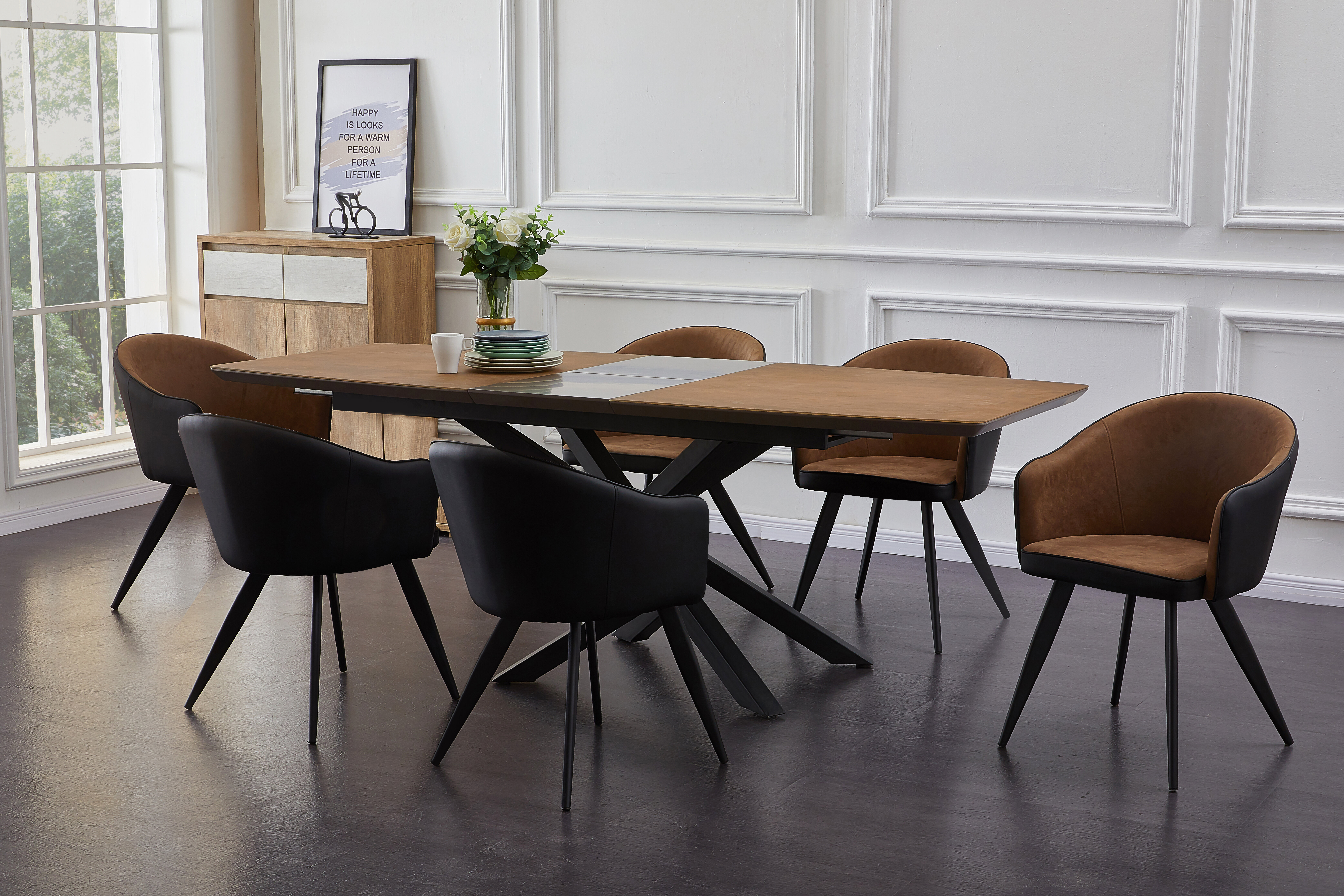 George Oliver Denzel Extendable Dining Set With 6 Chairs Reviews Wayfair Co Uk