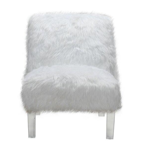 Fine White Leather Armless Chair Wayfair Inzonedesignstudio Interior Chair Design Inzonedesignstudiocom
