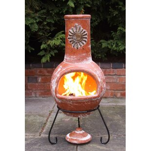 Steel Wood Chiminea By Gardeco