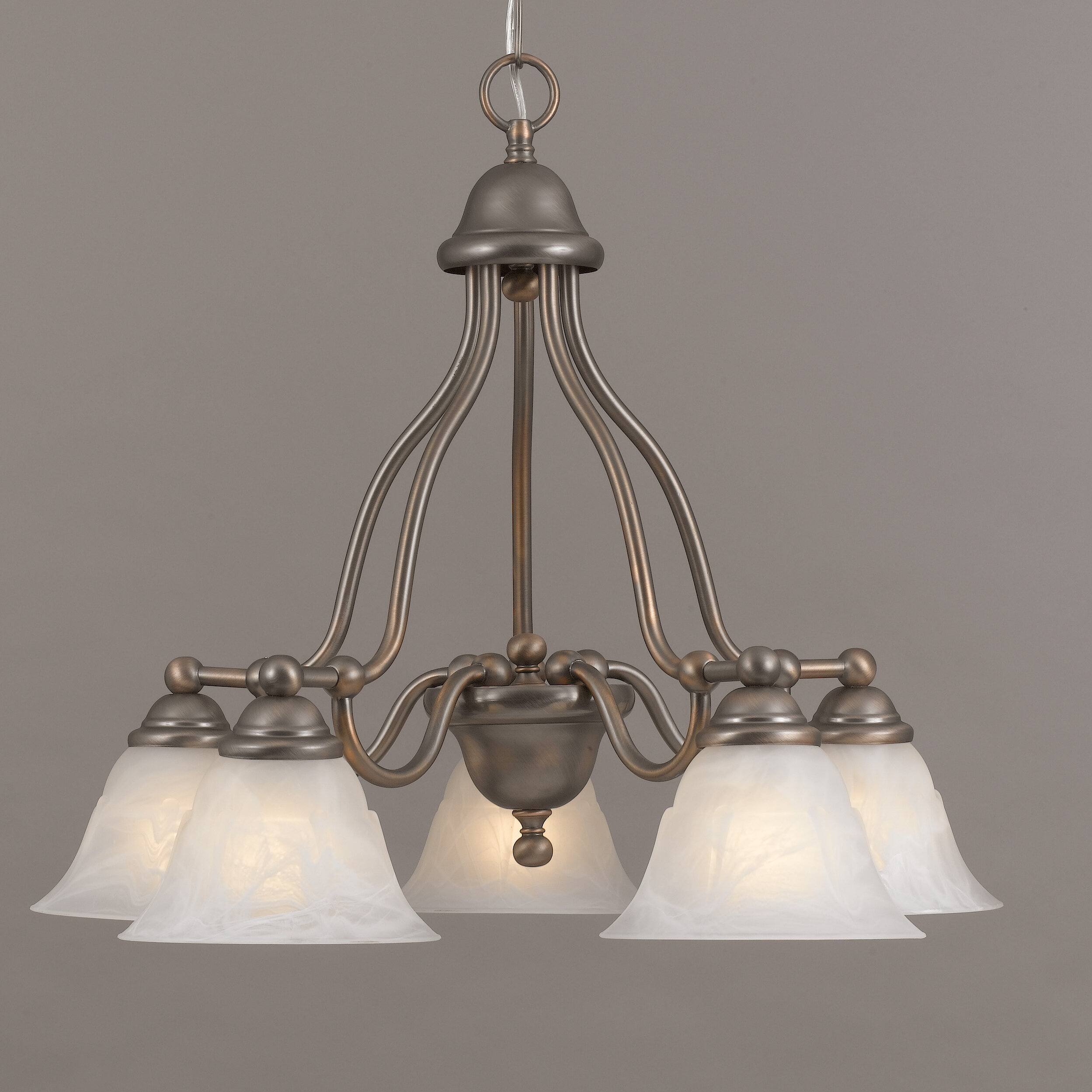 Classic Lighting Providence 5 Light Shaded Chandelier & Reviews