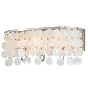 Affordable Price Kym Capiz Shell 3-Light Vanity Light By Beachcrest Home