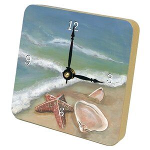 Ocean's Shells Beach Tiny Times Desk Clock