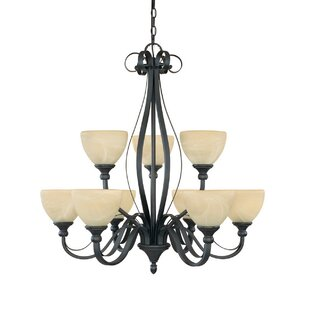 Murphree 9-Light Shaded Chandelier by Charlton Home