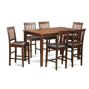 7 Piece Counter Height Dining Set Wooden Importers