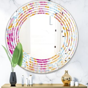 Wave Floral III Cottage Americana Wall Mirror by East Urban Home