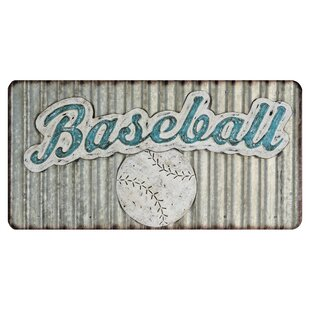 Corrugated Metal Baseball Wall Décor