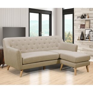 George Oliver Blazer Sectional with Ottoman