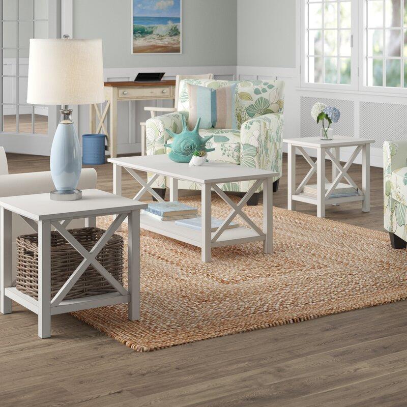 Beachcrest Home Ruthwynn 3 Piece Coffee Table Set Reviews Wayfair